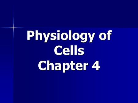 Physiology of Cells Chapter 4. Cell Cycle The events that occur during the life cycle of a cell. 3 stages: The events that occur during the life cycle.