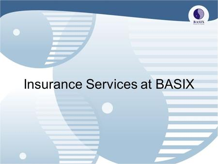 Insurance Services at BASIX