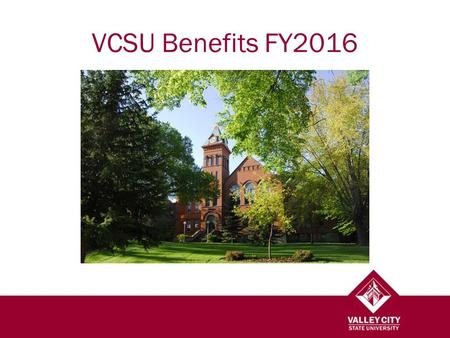 VCSU Benefits FY2016. Broadband Job Classifications 0000 BAND: Executive/Administrative1000 BAND: Administrative/Managerial2000 BAND: Academic3000 BAND: