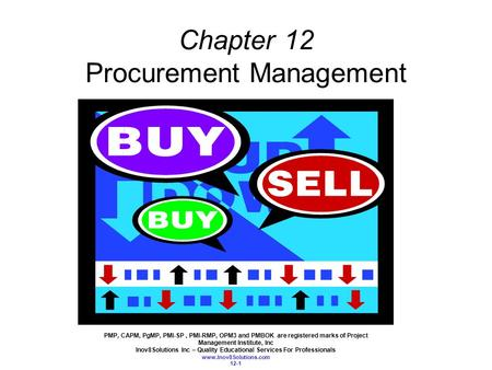 Chapter 12 Procurement Management
