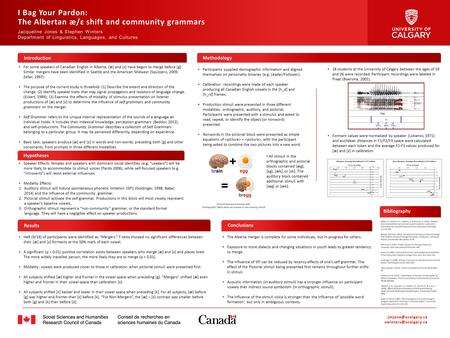 The Albertan æ/ɛ shift and community grammars
