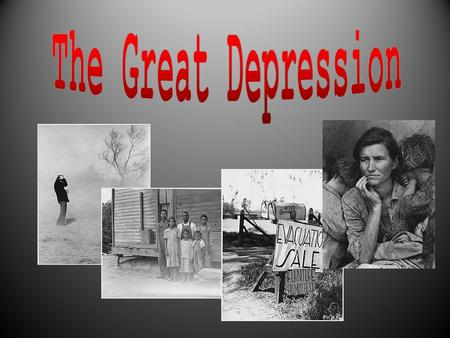 Main Causes of the Great Depression in the U.S. o Overproduction of business and farm goods in the United States. o Uneven distribution of wealth in the.