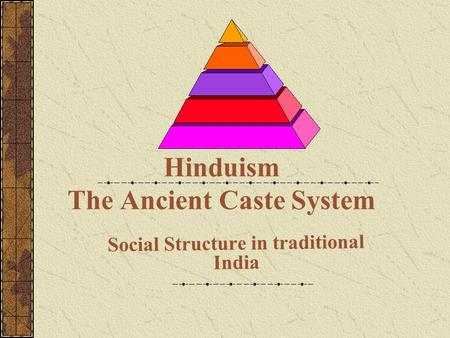 Hinduism The Ancient Caste System