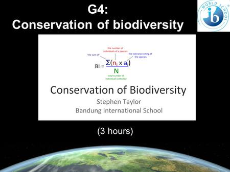 G4: Conservation of biodiversity (3 hours). G.4.1 Explain the use of biotic indices and indicator species in monitoring environmental change. Canary in.