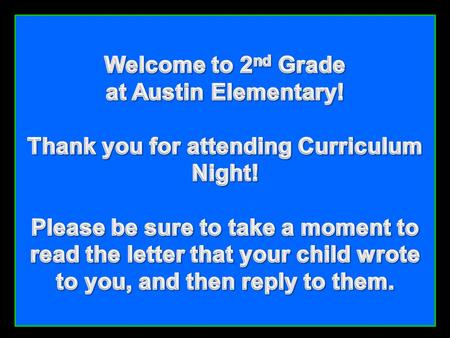Video from the administrators, office staff and resource teachers Austin Elementary!