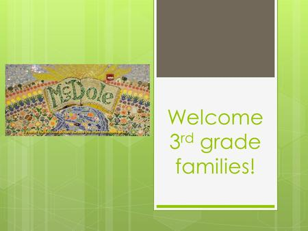 Welcome 3 rd grade families!. Supply Drop Off Label everything with student name Paper towels, baggies, Kleenex on tables Art shirt and PE shoes in your.