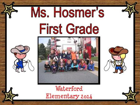 Waterford Elementary 2014 Class Picture Goes in this Section.