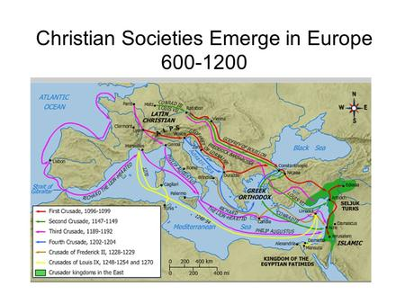 Christian Societies Emerge in Europe
