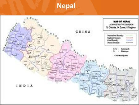Nepal. Capital: Kathmandu Administrative division: 75 districts Total population: 26,494504 (2011 census) Literacy rate: 65.9% (M=75.1%; F=57.4%) Political.
