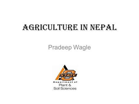 Agriculture in Nepal Pradeep Wagle.