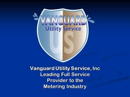 Vanguard Utility Service, Inc Leading Full Service Provider to the Metering Industry.