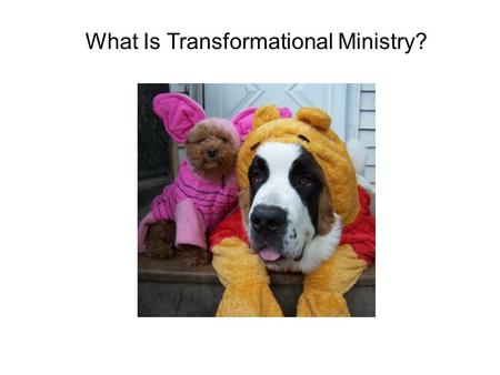 What Is Transformational Ministry?. What It's Not:  Quick fix for church woes  A sure fire kit to energize your ministry  A one size fits all tool.