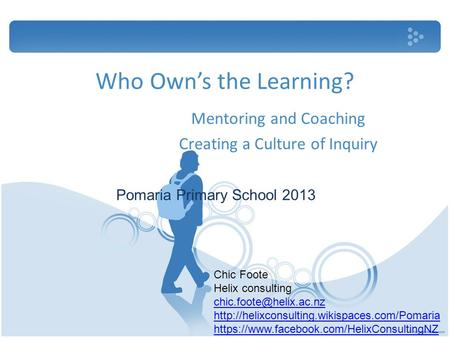 Mentoring and Coaching Creating a Culture of Inquiry