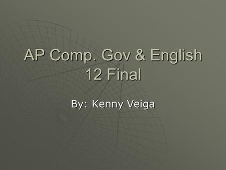 AP Comp. Gov & English 12 Final By: Kenny Veiga. What I Want to Be Orthopedic Surgeon or Plastic Surgeon  Want to help people overcome injuries, or tragic.
