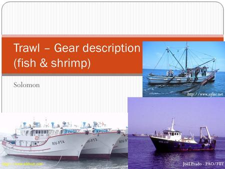 Solomon Trawl – Gear description (fish & shrimp)  Joël Prado - FAO/FIIT