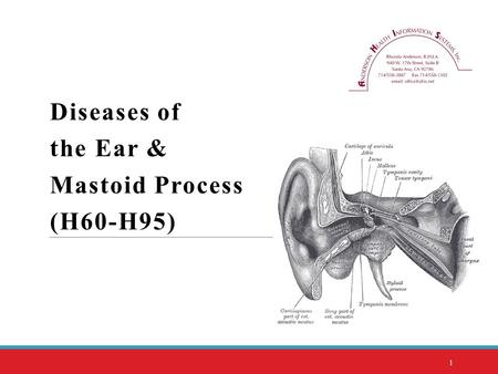 Diseases of the Ear & Mastoid Process (H60-H95)