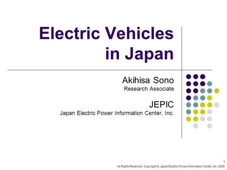 Electric Vehicles in Japan