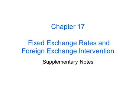 Foreign exchange notes