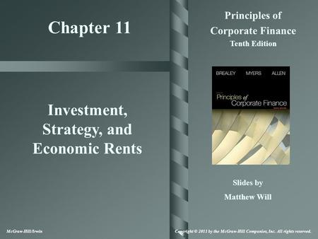 Investment, Strategy, and Economic Rents