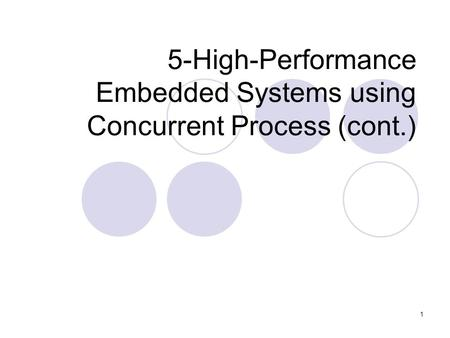 1 5-High-Performance Embedded Systems using Concurrent Process (cont.)