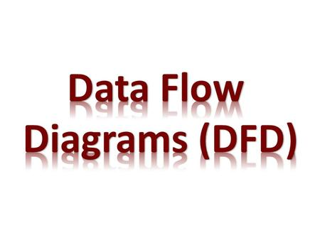A data flow diagram (DFD) maps how data moves through a system. It shows how data entering the system (input) is transformed (process) and changed into.
