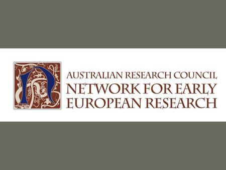 Building infrastructures for Web- based collaboration in humanities research networks Dr Toby Burrows & Dr Ela Majocha Digital Services ARC Network for.