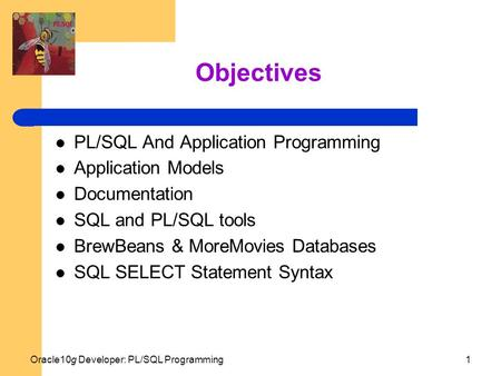 Objectives PL/SQL And Application Programming Application Models