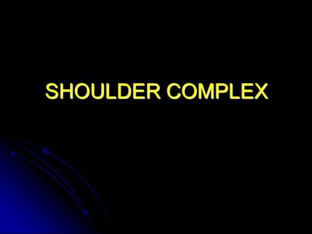 SHOULDER COMPLEX. Extrinsic Shoulder Muscles Review the following: Review the following: Pectoralis major Pectoralis minor Serratus anterior Trapezius.