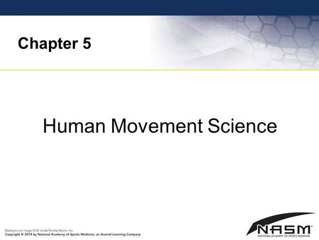 Chapter 5 Human Movement Science. Purpose To provide the fitness professional with a fundamental overview of how the components of the human movement.