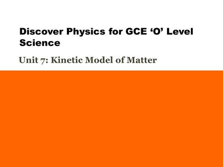 Discover Physics for GCE 'O' Level Science