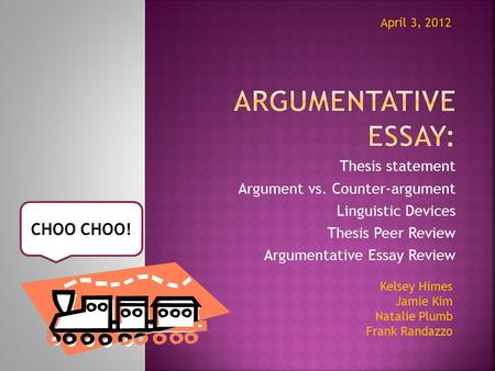 Thesis format requirements