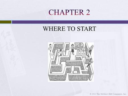 WHERE TO START © 2012 The McGraw-Hill Companies, Inc.