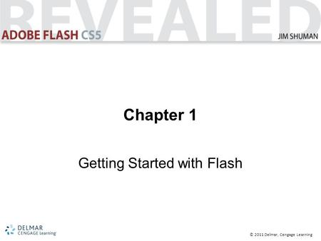 © 2011 Delmar, Cengage Learning Chapter 1 Getting Started with Flash.