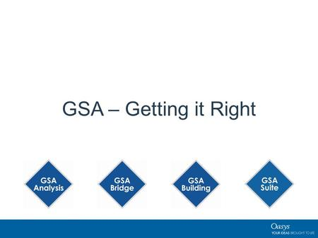 GSA – Getting it Right. 2 What's New GSA 8.7? New Steel Design Codes New RC slab design codes New Footfall Analysis Codes — BS 6841:1987; BS 6472-1 -