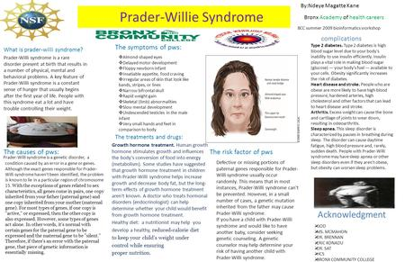 Prader-Willie Syndrome