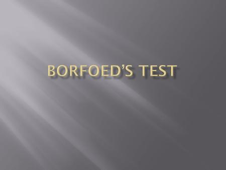 Borfoed's test is basically meant to detect monosaccharide's in acidic PH but it can also be used to distinguish b/w monosaccharide's and disaccharides.