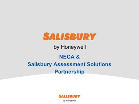 NECA & Salisbury Assessment Solutions Partnership.