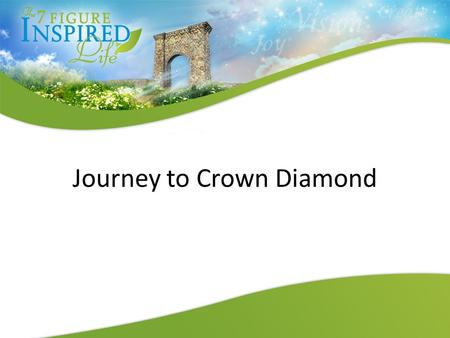 Journey to Crown Diamond. Basic Steps To The Top Decision Belief Vision Action Sow & Grow Persist in Gratitude.