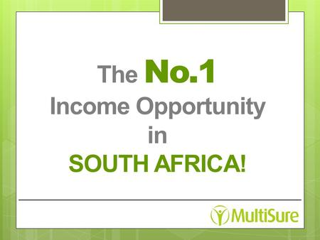The No.1 Income Opportunity in SOUTH AFRICA!. Most People × Lack Finance to settle debts and live comfortably × Have no job satisfaction even if they.