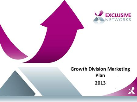 Growth Division Marketing Plan 2013. Vendors Aerohive Exinda Imperva Infoblox Palo Alto Networks.