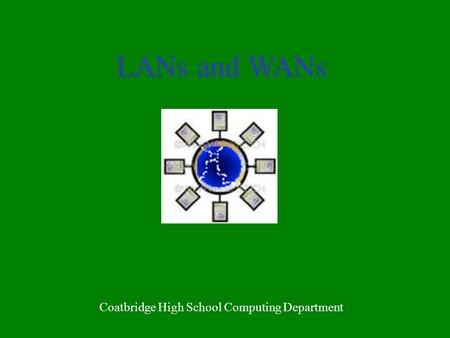 LANs and WANs Coatbridge High School Computing Department.