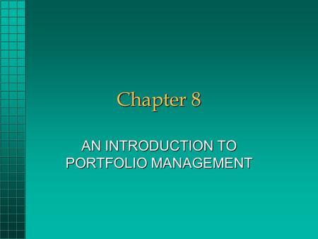 investment analysis and portfolio management by charles p jones pdf