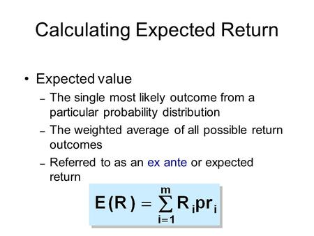 Calculating Expected Return
