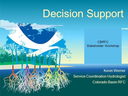 Decision Support Kevin Werner Service Coordination Hydrologist Colorado Basin RFC CBRFC Stakeholder Workshop.