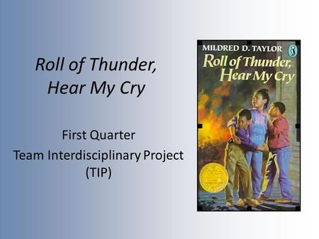 roll of tunder hear my cry essay