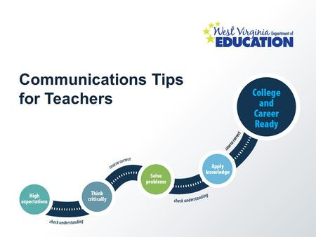 Communications Tips for Teachers. Welcome! These tips were gathered from a variety of online resources available to help educators communicate about Common.