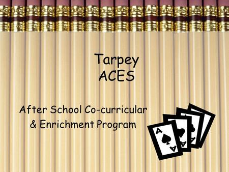 Tarpey ACES After School Co-curricular & Enrichment Program.
