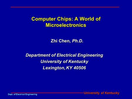 Computer Chips: A World of Microelectronics