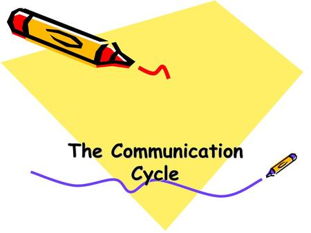 The Communication Cycle. Communication Cycle Communication creates meaning through the exchange of messages.
