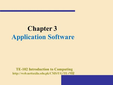 TE-102 Introduction to Computing